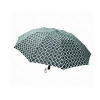 3 Section Folding Auto Open Umbrella , Printed Automatic Open Close Umbrella OEM Manufactures