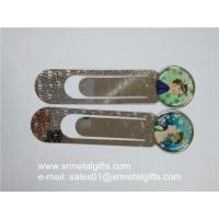 China Clear epoxy coated steel bookmarks, print epoxy coating metal bookmarks factory on sale
