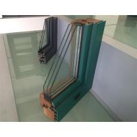 Extruded Aluminium Window Profiles / Green Color Three Layers Glass Combined Windows Manufactures