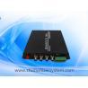 Buy cheap 4CH HDCVI video fiber transceiver for Dahua/Hikvision 720p 1080p 3MP 4MP CVI signal over fiber to 20km from wholesalers