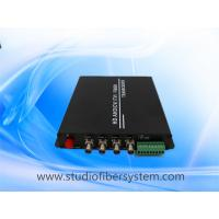 Buy cheap 4CH HDTVI to fiber converter with RS485 PTZ control,supporting Hikvision Dahua from wholesalers