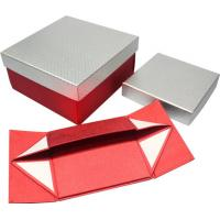 High grade foldable Paper Gift Boxes , magnets closure paper gift wine box Manufactures