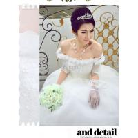 white cotton Ladies Wedding Dresses for yong girl Manufactures