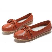 Rubber Loafer Slip On Shoes Genuine Leather Shoes Lady Dress Shoes Loafers Hollow Manufactures