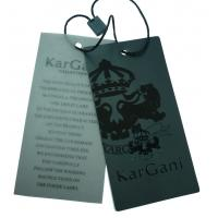 Puff Printing Paper Clothing Lable Tags, Cardboard Hang Tag For Garments Manufactures