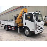 ISUZU Mobile Crane Truck , Mounted Crane Truck With Folded Arm XCMG Crane Manufactures