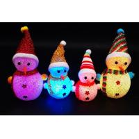 Christmas acrylic  glowing snowman,Flash Santa Claus, Christmas small gifts furnishing articles children's toys Manufactures