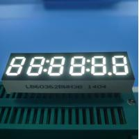 6 Digit 7 Segment LED Display , Ultra Bright White LED Clock Diplay 0.36 Inch Manufactures