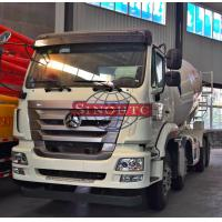 14m3 - 16m3 Volume Concrete Transport Truck 8x4 Driving Type LHD / RHD Steering Manufactures
