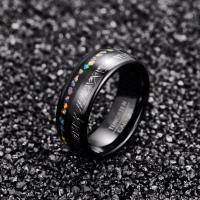 2019 8mm Width Men's Ring Imitation Vermiculite Opal Granules Fully Polished Electroplated Black Dome Tungsten Carbide Manufactures