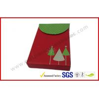 China Red Christmas Gift Packaging Boxes Foldable / VIP Card Gift Packing on sale