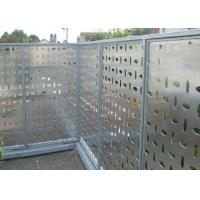 3003 H24 Perforated Aluminum Plate , 6061 Aluminum Sheet For Lighting Decorative Fence Manufactures