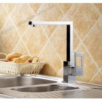 Quality hot and cold sink mounted square kitchen brass faucet deck mounted chrome for sale