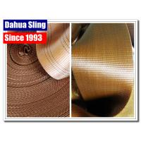 6 Ton Brown Heavy Duty Webbing Roll For Webbing Tie Down Straps 6 Stripes Manufactures