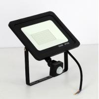 China 10W 20W 30W 50W 100W Led Flood Light With Adjustable PIR Sensor SMD 2835 Floodlights Outdoor Lighting For Street Square on sale