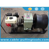 China 3 Ton Cable Drum Pulling Winch Machine With Petrol Engine Power on sale