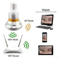 EAZZYDV  Wireless HD960P Bulb-shaped  Hidden IP Camera with Invisible IR Light and Mirror Cover
