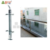 SS304 Stainless Steel Balcony Posts Railing Pillar Satin Finished Diameter 42.4mm Manufactures