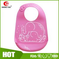 Protable Soft Durable FDA Silicone Baby Bibs Printed Apron LFGB Manufactures