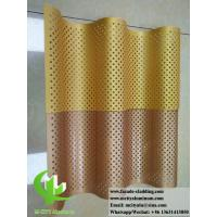 Quality Corrugated Perforated Metal Cladding Panels / Aluminium Facade Panels for sale