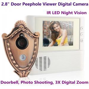 2.8 LCD Screen Digital Door Peephole Viewer Camera IR LED Night Vision Home Security Door Eye Electronic Doorbell Alarm Manufactures