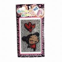 Mobile Phone Crystal Sticker, Non-toxic and Eco-friendly Manufactures