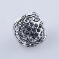High-Grade Alloy-plated Ring, Made of Anti Silver with Rhinestone, Comes in Fashion Special Design Manufactures