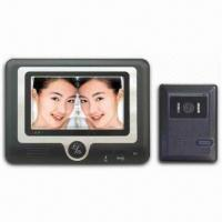 Four-wire 7-inch Color Video Door Phone with Rain-resistant Camera and Optional Eight Chord Ring