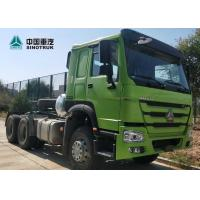 HOWO Drawing Head Tractor Truck LHD Single Berth Cabin 10 Wheels Green Color Manufactures