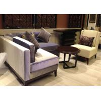 OEM Comfortable Hotel Lobby 2 Seater Sofas Fabric Set For Public Area