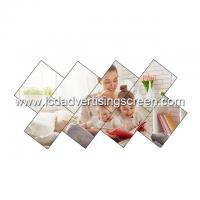 49 Inch LCD Video Wall Display 9mm Bezel Size Curved Irregular Splicing Screen Manufactures