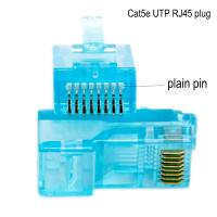 Networking Cable OEM 8P8C CAT5E Ethernet Cable Plugs with transparent Manufactures