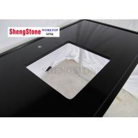 China Black Color Clear Epoxy Resin Countertops One Hole 1500*700 Mm Size on sale