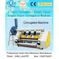2 Layer Single Facer Corrugated Paper Carton Making Machine Simple Structure Manufactures