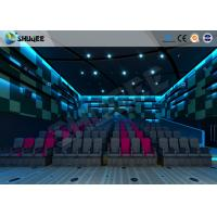 Electric Pneumatic System 3D 4D Movie Theater Special Effect Black Motion Chairs Manufactures