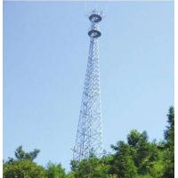 60 M Steel Tubular  Tower , Telecommunications Towers  75(100) / 100(130)  Wind Speed Manufactures