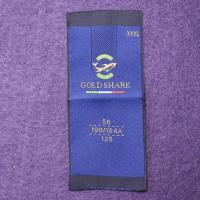 China Garment Woven Apparel Personalized Sewing Labels 100% Polyester Fabric on sale