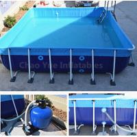 Outdoor Metal Frame Swimming Above Ground Pool with filter Manufactures
