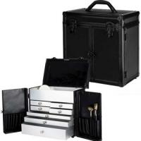 Black Color Makeup Artist Case , Customized Size Cosmetic Storage Case Manufactures