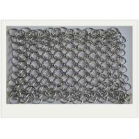 6*8 Stainless Steel Chainmail Scrubber / Cast Iron Chain Cleaner Non - Toxic Manufactures