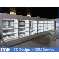High Wooden Shelf Jewellery Shop Display Cabinets For Showroom Manufactures