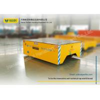 Foundry Plant Material Handling Trolley / Motorized Rail Cart On Epoxy Flooring Manufactures