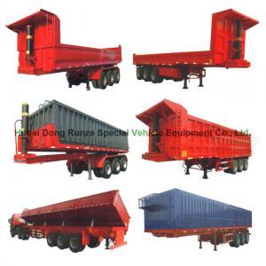 Heavy Duty U Shape End Tipping Rear Dump Semi Trailer For Truck 35 - 45 Ton Manufactures