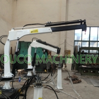 0.35T 3.5M Small Yacht Crane For Deck Cargo Lifting Manufactures