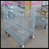 Hot-dipped Galvanized Warehouse Storage Cage/ pallet cage /security cage/metal storage sheds/metal bin for Sale Manufactures