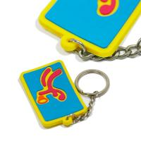 Eco - Friendly Personalized Promotional Gifts 3d Pvc Key Chain Any Color Manufactures