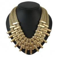High quality Multilayer Alloy Statement Necklace Vintage Necklace for women Party Manufactures