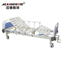 Two Cranks Back Lifting Manual Hospital Bed Adjustable With ISO / CE / FDA Manufactures