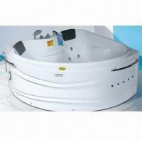 China Corner Whirlpool Bathtub, Made of ABS, Stainless Steel and Cooper on sale