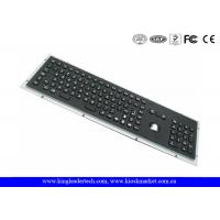 China Rugged Panel Mount Black Metal Keyboard With Trackball Function Keys And Number Keypad on sale